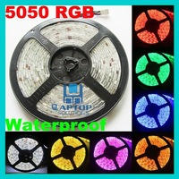 Wholesale - 5M Waterproof SMD 5050 LED Strip Light 300 Leds Flash RGB +44K IR Remote Control HK Post Free Ship