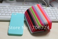 50pcs/lot Gloosy Candy Plastic Ultra Thin pure colors hard case cover For Apple Iphone5  5S  free shipping