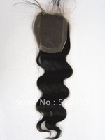 """Brazilian Virgin Hair Lace Closure free style (NO Part Body) Wave or Straight (4"""" X 4)"""