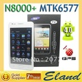 HK post free shipping MTK6577 Android phones N8000+ 5.0 inch capacitive touch screen gps wifi tv phone