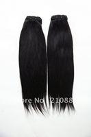 "Virgin brazilian hair weft natural straight 12""-22""  hair products Mixed Lengths 100% human hair Free shipping 3 pcs/lot"