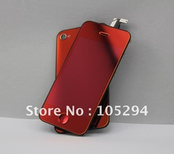 Free shipping mirror red color conversion kit for iphone 4 ,4g screen replacment(China (Mainland))