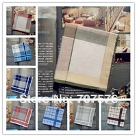 New Arrival Exports Products cotton male Plaid handkerchief gift box set day gift