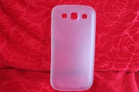 Ultra-thin 0.3MM LIGHT PC Plastic Case Cover FOR SAMSUNG Galaxy S3 S III WHITE by good price 200pcs/lot EMS free shippping