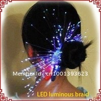 Novelty Colorful Hair band Flash LED Braid Gleamy Headwear for Party Holiday Bar festival Gift Toys (50pcs/lot) -Lucy store