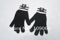 real madrid fc thick gloves /  football team autumn  winter knitting wool gloves