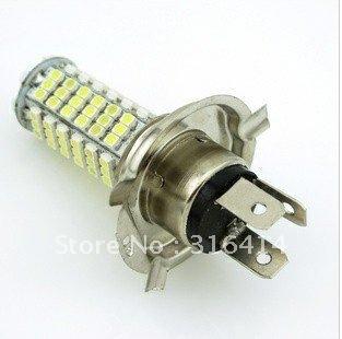 New! 2pcs/lot H4 102 SMD LED White H4 Car Fog light Headlight Bulb DC 12V 6000K-6500K