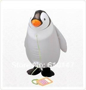 Free shipping 20pcs/lot helium pet balloon Penguin walking balloon walking animal balloon
