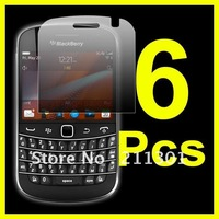 Free Shipping 6 pcs/lot Clear LCD Screen protector Guard Film For Blackberry 9900 Bold Touch