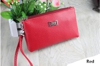 Fashion Direct Selling Women's wallet,wholesale candy color wallet double pull mobile wallet Free shipping