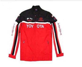 wholesale Winter man  thick  zipper fleece  sport jacket  for toyota   free shipping