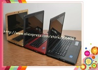 Factory Wholesale Laptop With Aluminium 14.1 inch With DVD Dual Core Intel Atom D525/ D2500 Russian 4G/ 500G DHL Free Shipping