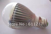 Free shipping. 10pcs/lot AC85-265V B22 E27 3W 5W 7W LED bulb,3*1W 5*1W 7*1W LED lamp