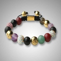 European style shamballa bracelet macrame ball beads shamballa crystal bracelet in cheep price AF8032