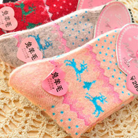 Free Shipping 2873 The rabbit wool fawn small autumn/winter Christmas stockings