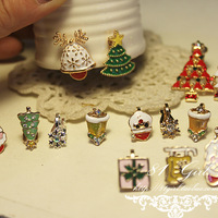 Christmas tree no pierced earrings stud earring