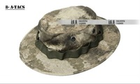 Free shipping Unisex MILITARY COMBAT CAMOUFLAGE HAT CS TRAINING BOONIE SUN HAT CAP(CH-12022) A-TACS