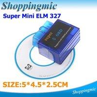 5PCS OBD2 OBD-II Super Mini ELM327 V1.5 Bluetooth Car Auto Diagnostic Scanner Tool Dropshipping Free Shipping