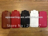Pull genuine leather case pouch for iphone 5