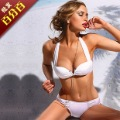 Fashion bikini swimwear female split big small push up t09