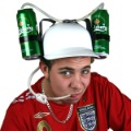 Free shipping hot sale Football cap fans hat toy wine beverage cap beer cap hat ball