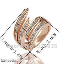 KR007-8# Free shipping 18K Ring GP Austria crystal 18K white/gold/Rose Plate European style Ring fashion jewelry aaja irqa riza(China (Mainland))