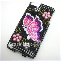For iPod Touch 5 5G 5th Gen Bling Diamond Case Crystal Rhinestone Cover Skin New Butterfly Design