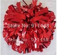 "cheerleader pom pom dual-head baton 6"" * 3/4"" professional poms metallic red mini order 10 pieces"
