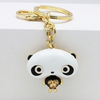 VIENNOIS cute  panda car keychain fashion best birthday gift