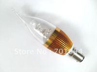 20xlot B15 LED candle bulb brightest 3W 9W LED Bulb 85V-265V AC  (warm &cold light)