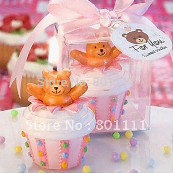 Free shipping Newly Lovely Bear Cake Candle Spring Summer Fall winter Wedding Baby shower favors(China (Mainland))