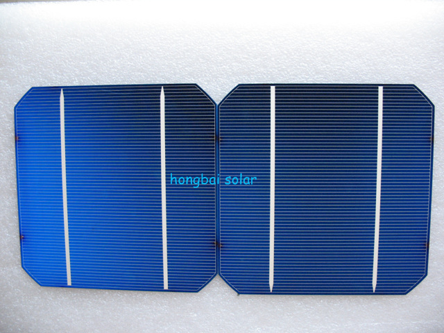 2 Bus Bars Monocrystalline Solar Cell 18% Efficiency 4.3 Watts Per Cell(China (Mainland))