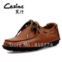 2014 genuine leather men casual shoes
