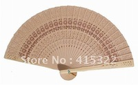 100pcs/lot free shipping sunflower design fragrance wood fan wedding gift favor