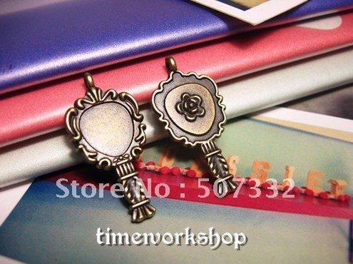 Vintage Jewelry DIY materials wholesale Zakka manual material wholesale 14*28MM small dressing mirror(China (Mainland))