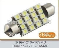 10pcs/lot Led Interior Dome Festoon Reading Light 16 SMD LED Bulb Light 16SMD 39mm White 12V