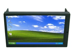 Free Shipping High Brightness 2DIN 7 Inch LED Touch Screen Monitor with VGA and Auto Switching AV2 for Reverse Camera for Car PC(China (Mainland))