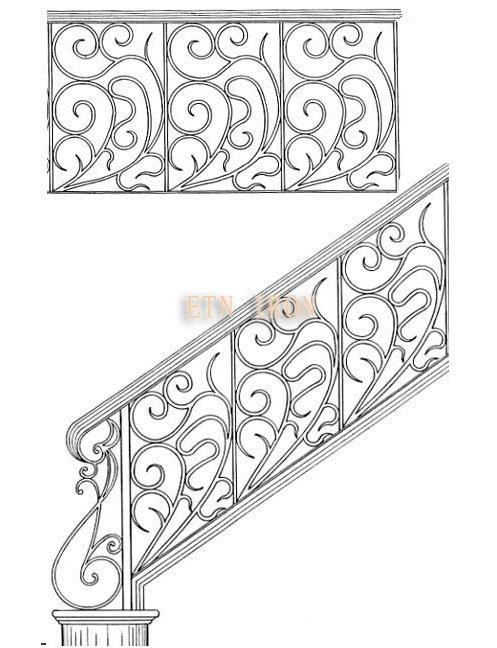 grade de ferro forjado decorativo etn r002(China (Mainland))