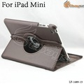 Free-shipping 5pcs/lot New arrival 360 degree Rotation pu leather case for iPad Mini 7.85 LF-1689