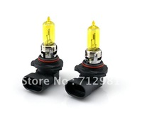 2013 New free shipping 9005 12V 55W Halogen bulb  2 Pcs yellow