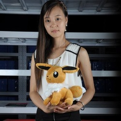 12&quot; Eevee New pokemon Soft Stuffed Animal Plush toy(China (Mainland))