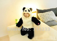 Wholesale 2012 New Baby clothing & jumpsuits thick Clothes for winter Lovely Panda modelling Long Sleeve Baby Rompers 3Pcs/lot