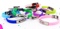 Free shipping By hongkong post 5pcs/lot energy bracelet Silicone sports bracelet with retail package Aion Multi colors