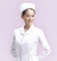 doctor nurse Standard nurse clothing white coat beauty services physician services Pink white suit winter long-sleeve