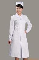 doctor nurse White long-sleeve nurse clothing beauty services white coat beauty work wear uniform long-sleeve winter