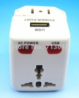 Travel Adaptor With Usb Port Universal Adaptor EU/AU/UK/US most conveninent+Free shipping