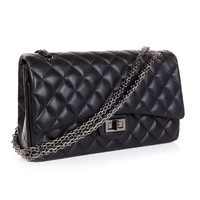 2012 suede sachet 2.55 plaid chain bag genuine leather women's handbag sheepskin bags 1113