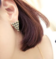 Fashion normic trend punk triangle vintage glaze stud earring earrings e045