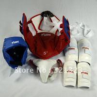 Free Shipping Taekwondo protectors protect head Body Armguards Leggings jockstrap-sided two-color taekwondo competition training
