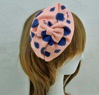 Hot Selling Fall Winter Seasons Bowknot Leopard Print Fabric Half Cap Headband Headwear Bandana Wholesale